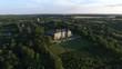 AERIAL flight around ancient castle in Ukraine. 4K.