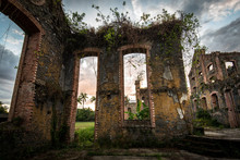 Ruins Of Sugar Mill Of Colonial Times In Brazil