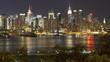 night view of midtown manhattan across the hudson river new york manhattan
