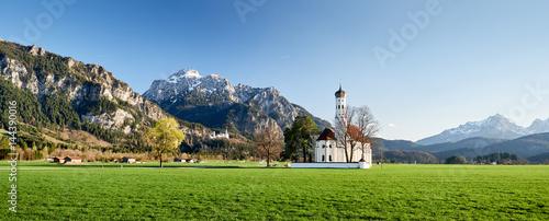 Kirche St. Coloman mit Schloss Neuschwanstein #144390016