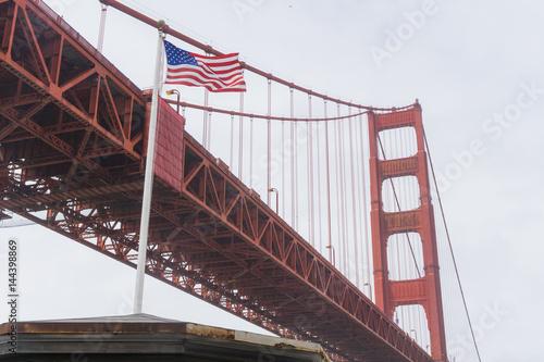 Valokuva  Old Civil War era seacoast fort under the Golden Gate Bridge in San Francisco