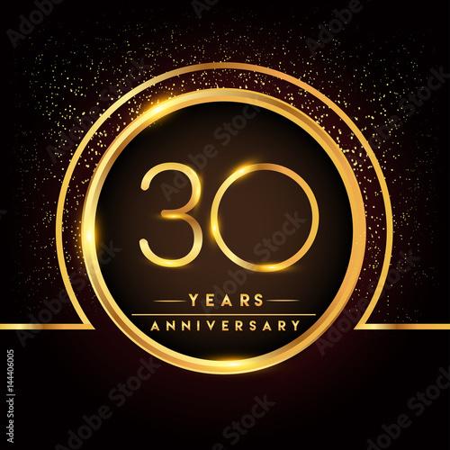 Fotografía thirty years birthday celebration logotype