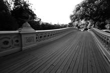 Bow Bridge Walkway In Black An...