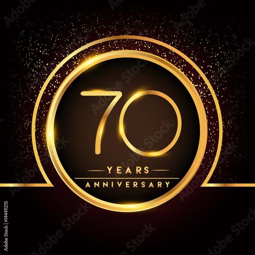 Photographie  seventy years birthday celebration logotype