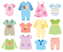Vector Illustration Of Baby An...