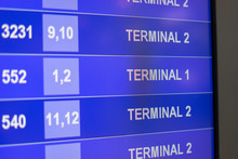 Arrival Departure Board Showin...