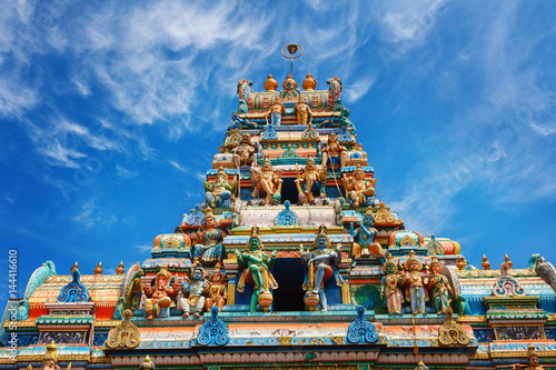 A traditional Hindu temple in Galle road 8000, Colombo, Sri Lanka