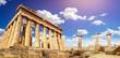 ruins of Parthenon temple of goddess Athena in Acropolis Athens, Greece
