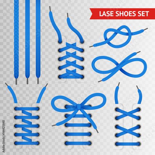 Photographie Blue Lace Shoes Icon Set