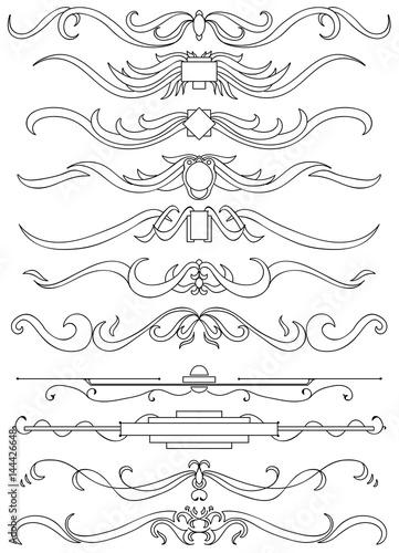 Slika na platnu Motif calligraphique horizontaux