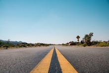 Straight Road In California De...