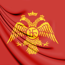 Byzantine Eagle, Flag Of Palaiologos Dynasty. 3D Illustration.