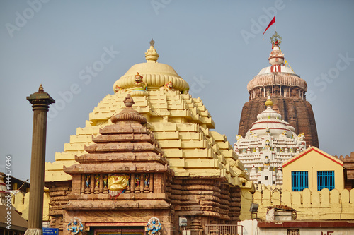 Vászonkép Jagannath temple in Orissa