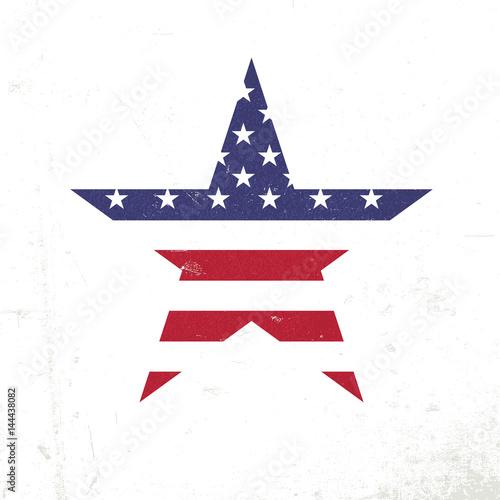 american flag in star shape patriotic design template grunge