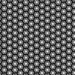 Seamless hexagon texture on the transparent background.
