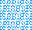 Jewish pattern with star of David