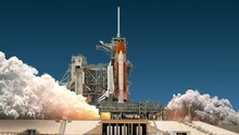 Space Shuttle Launch. 4K. Ultr...
