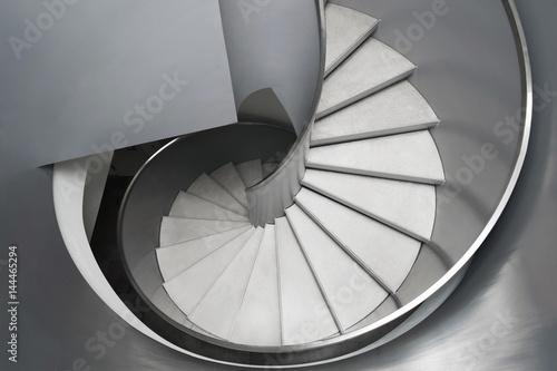 Naklejki na drzwi Spiralne schody - widok z góry