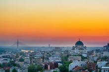 Belgrade Panorama With Temple ...