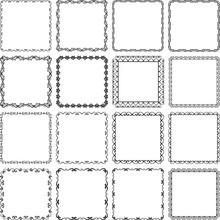 Set Of Decorative Borders - Design Elements