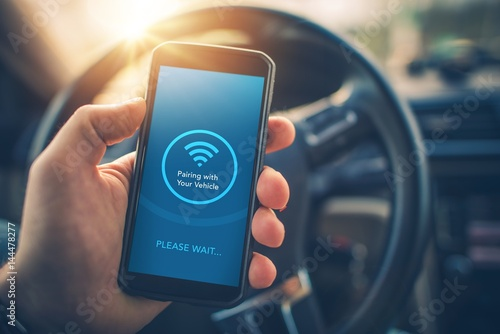 Photo Pairing Smartphone with Car
