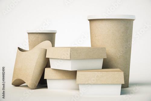 Fotografía  Fast food packaging
