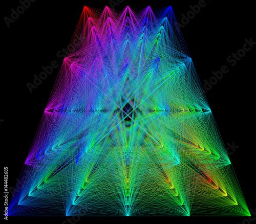 3d-illustration-of-colored-geometric