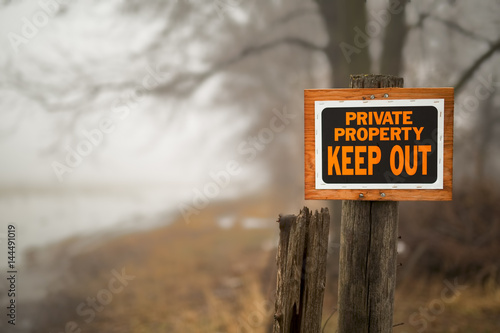 Photo  Private Property Sign