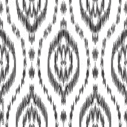 Photo sur Aluminium Style Boho Vector Ikat seamless pattern. Hippies print. Stylish ethnic backdrop. Scribble effect. Boho chic style. Hipster design.
