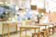 canvas print picture - Blurred background : blur restaurant with bokeh light background