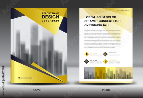 business brochure flyer templater gold cover design annual report