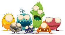 Alien Monster Character Doodle Art Design