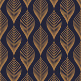 Vector pattern. Abstract stylish background with texture of abstract gold leaves. Stylized holiday garland. pattern is on swatches panel - 144499478