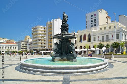 patra center georgiou square greece Canvas Print