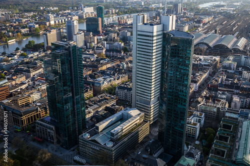 Fototapety, obrazy: Frankfurt Am Main City Skyline