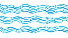 Blue Wave Patterns. Set Of Ele...