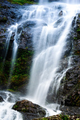 Panel Szklany Wodospad Mountain waterfall with long exposure