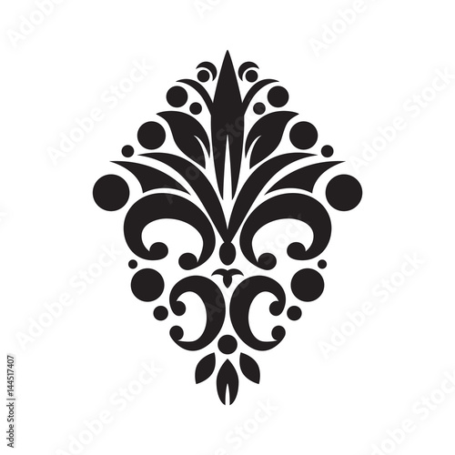 Fotografie, Obraz  Floral pattern. Vector iIlustration. Element for design.