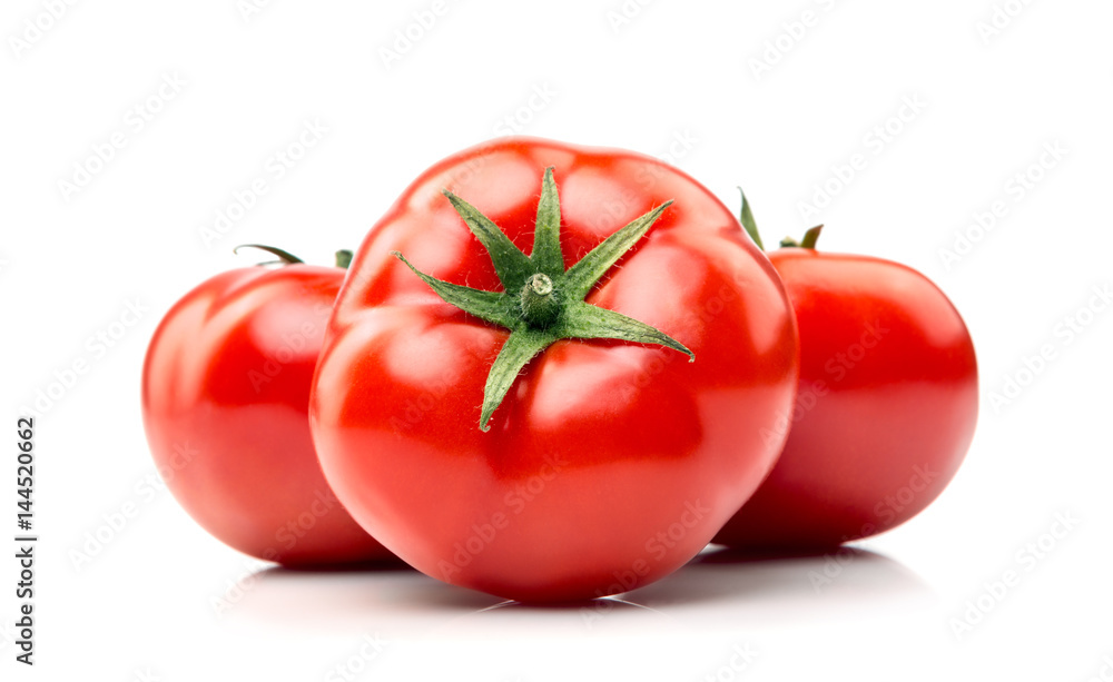 Fototapety, obrazy: organic tomatoes on white ..