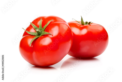 Tomatoes isolated on white.