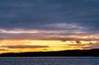 Sunset in the Stockholm archipelago in Sweden