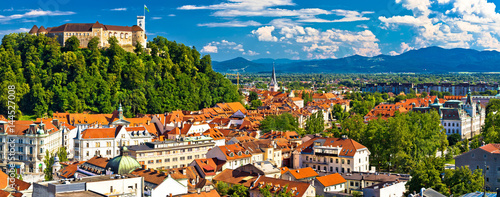 Canvas Prints Eastern Europe City of Ljubljana panoramic view