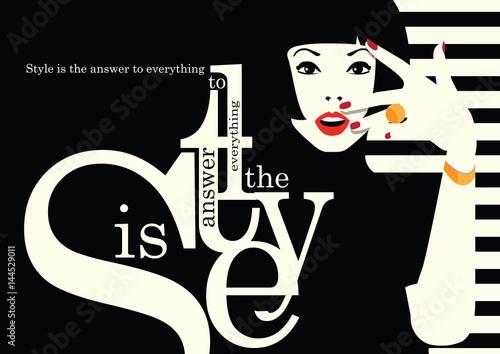 Plakaty do antyram, ramek lub samoprzylepne fashion-woman-in-style-pop-art