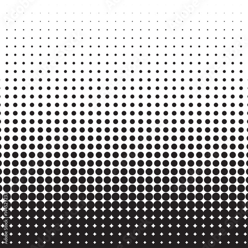 Halftone dots. Black dots on white background. Vector illustration