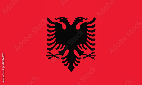 albania flag Canvas Print