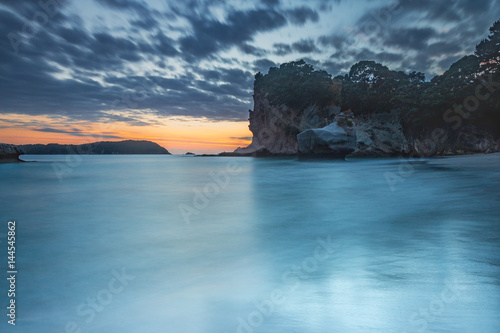 Foto op Canvas Cathedral Cove Long exposure of sunrise at Cathedral Cove, Coromandel, New Zealand