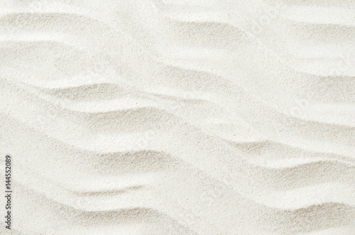 Fototapeta White sand texture background with wave pattern obraz