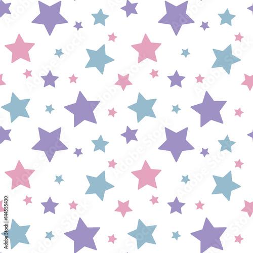 pastelowe-kolorowe-gwiazda-rozowy-niebieski-fioletowy-na-bialym-tle-wzor-bez-szwu-wektor