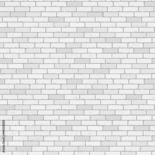 White And Gray Wall Brick Background Rustic Blocks Texture Template Seamless Pattern Vector