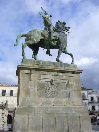 Estatua de Francisco Pizarro en Trujillo, Cáceres, España